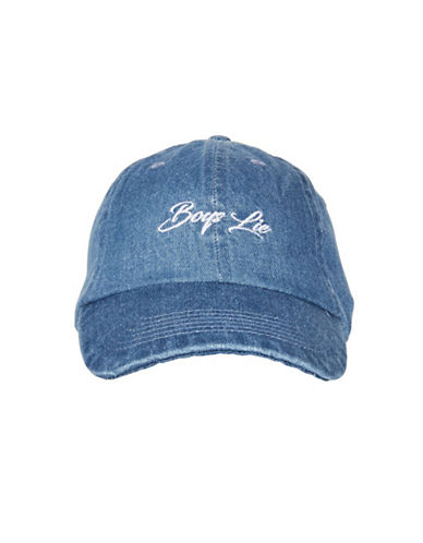 Topshop Boys Lie Denim Cap-BLUE-One Size