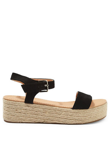 Topshop Dream Espadrille Wedges-BLACK-EU 40/US 9.5