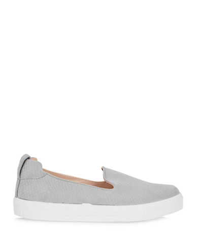 Topshop Womens Tempo Slip-On Anaconda Trainers-GREY-EU 36/US 5.5
