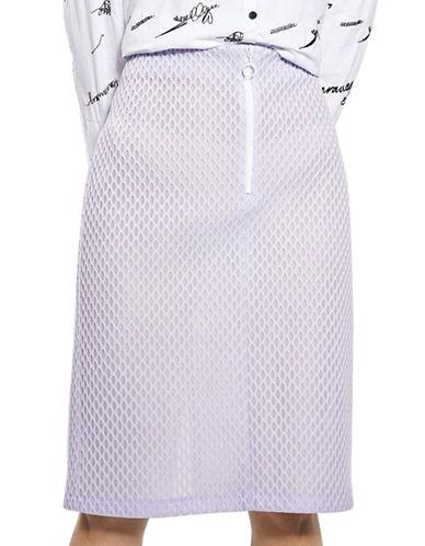 Topshop Honeycomb Pencil Skirt-LILAC-UK 10/US 6