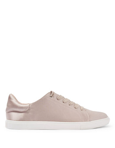 Topshop Catseye Satin Sneakers-TAUPE/BEIGE-EU 40/US 9.5