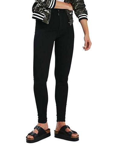 Topshop PETITE MOTO Black Joni Jeans 28-Inch Leg-BLACK-26X28