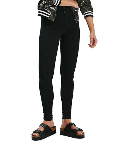 Topshop MOTO Joni Jeans 28-Inch Leg-BLACK-24X28