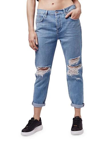 Topshop MOTO Bleach Rip Hayden Boyfriend Jeans 30-Inch Leg-BLEACH-28X30