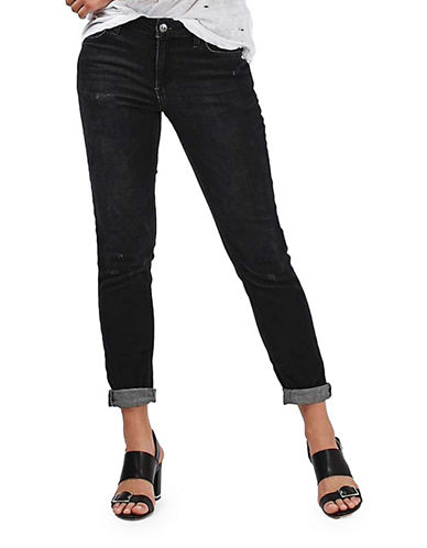 Topshop MOTO Washed Lucas Jeans 30-Inch Leg-WASHED BLACK-25X30