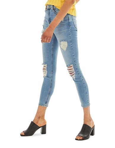 Topshop MOTO Super Ripped Jamie Jeans 30-Inch Leg-BLEACH-28X30