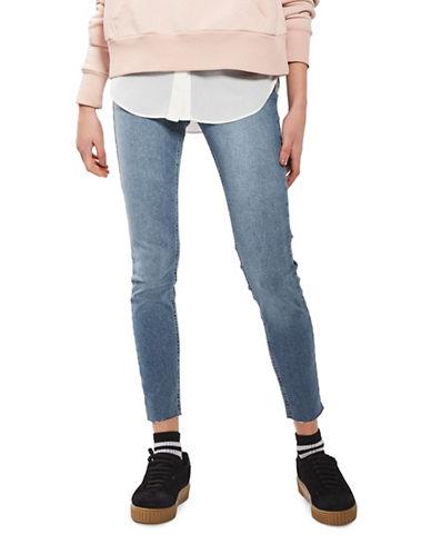 Topshop MOTO Raw Hem Jamie Jeans 32-Inch Leg-BLUE-26X32