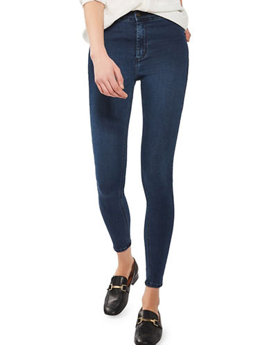 Topshop MOTO True Blue Joni Jeans-BLUE-30X32