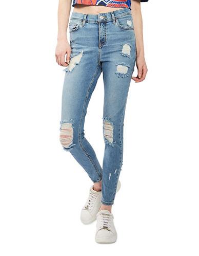 Topshop MOTO Super Ripped Jamie Jeans 32-Inch Leg-BLEACH-30X32