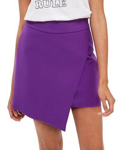 Topshop Asymmetrical Wrap Skirt-PURPLE-UK 10/US 6