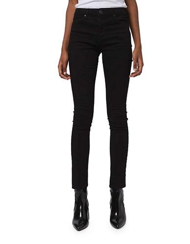 Topshop MOTO Leigh Jeans 30-Inch Leg-BLACK-25X30