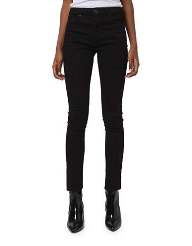 Topshop MOTO Leigh Jeans 32-Inch Leg-BLACK-25X32