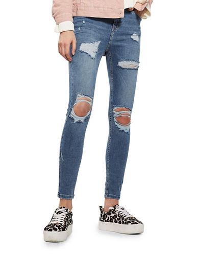Topshop MOTO Super Rip Jamie Jeans 30-Inch Leg-INDIGO-26X30