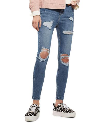 Topshop MOTO Super Rip Jamie Jeans 34-Inch Leg-INDIGO-28X34