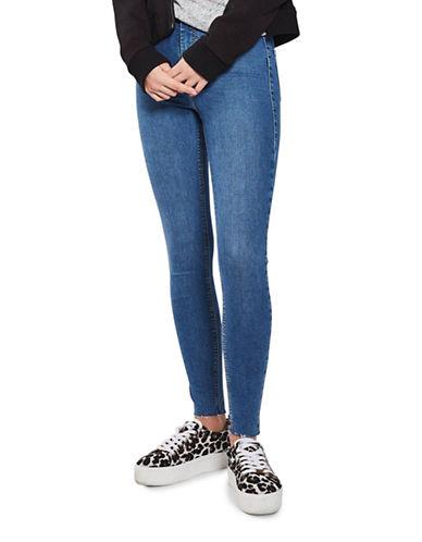 Topshop MOTO Raw Hem Joni Jeans 32-Inch Leg-BLUE-26X32