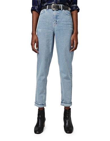 Topshop MOTO Bleach Mom Jeans 30-Inch Leg-BLEACH-28X30