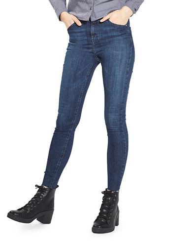 Topshop MOTO Raw Hem Jamie Jeans 30-Inch Leg-INDIGO-26X30
