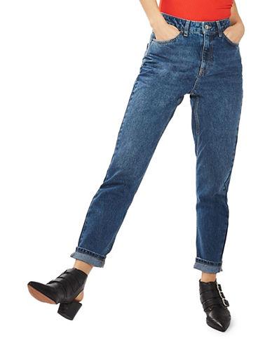 Topshop MOTO Mom Jeans 30-Inch Leg-DARK STONE-28X30
