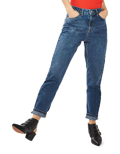 Topshop MOTO Mom Jeans 32-Inch Leg-DARK STONE-28X32