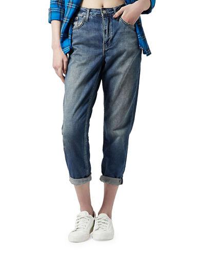 Topshop MOTO Dirty Vintage Wash Hayden Jeans 30-Inch Leg-DARK STONE-28X30