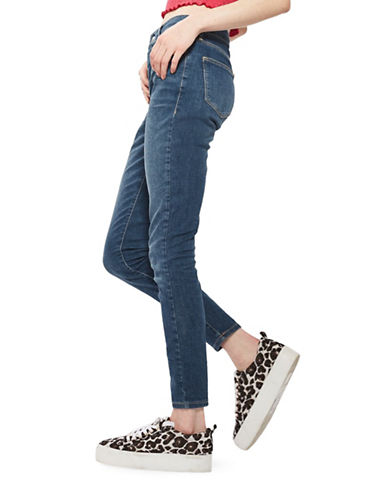 Topshop MOTO Leigh Jeans 30-Inch Leg-DARK STONE-25X30