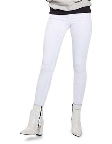 Topshop MOTO Raw Hem Jamie Jeans 30-Inch Leg-WHITE-28X30