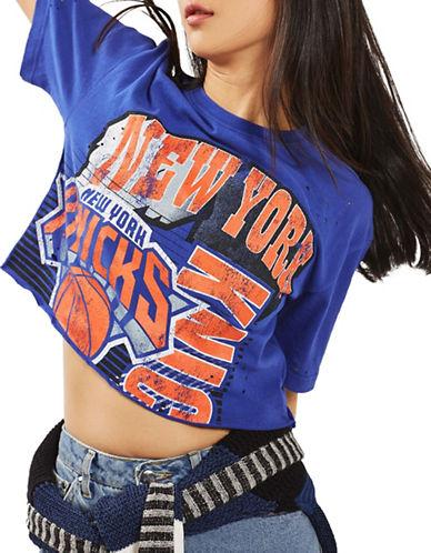Topshop New York Knicks Crop Top by UNK-COBALT-Medium
