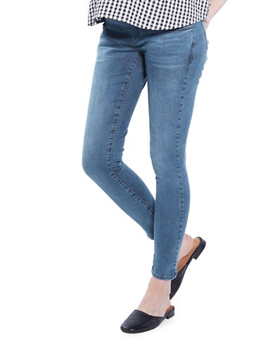 Topshop MATERNITY MOTO Leigh Jeans 30-Inch Leg-LIGHT BLUE-UK 14/US 10