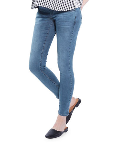 Topshop MATERNITY Leigh Jeans 32-Inch Leg-LIGHT BLUE-UK 12/US 8