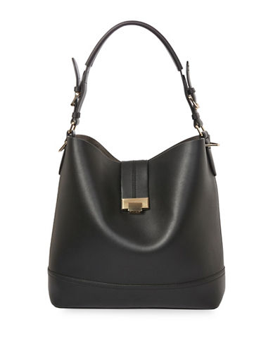 Topshop Andy Bucket Bag-BLACK-One Size