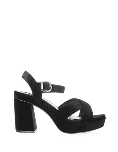 Topshop Lush Velvet Platform Sandals-BLACK-EU 37/US 6.5 88914495_BLACK_EU 37/US 6.5