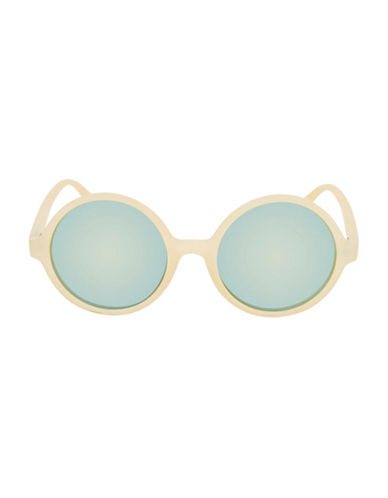 Topshop Lolly Round Sunglasses-YELLOW-One Size