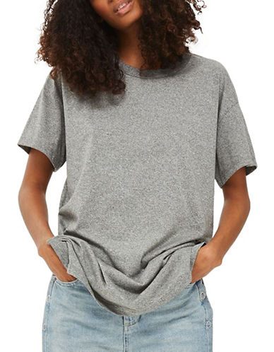Topshop PETITE Tunic T-Shirt-GREY-UK 12/US 8