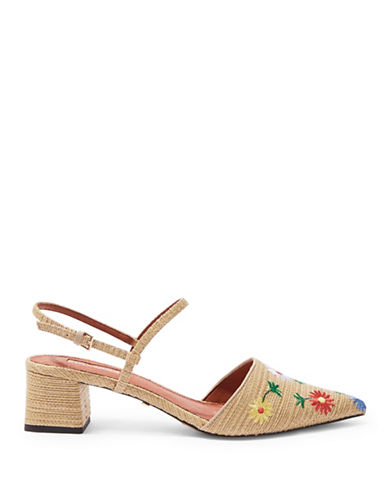 Topshop Jasmine Embroidered Shoes-NUDE-EU 40/US 9.5