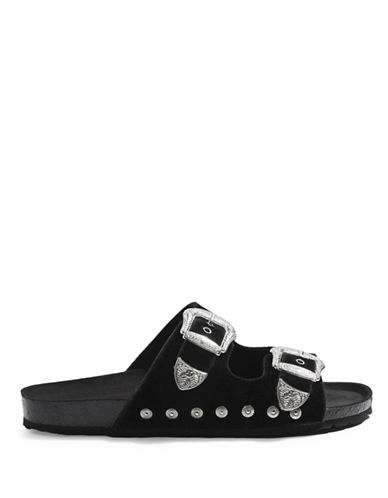 Topshop Falcon Buckle Slider-BLACK-EU 38/US 7.5
