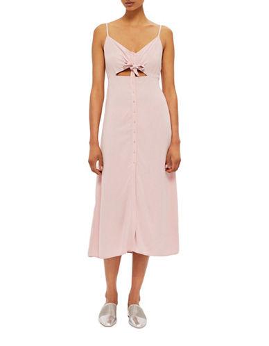 Topshop Molly Midi Dress-LIGHT PINK-UK 6/US 2