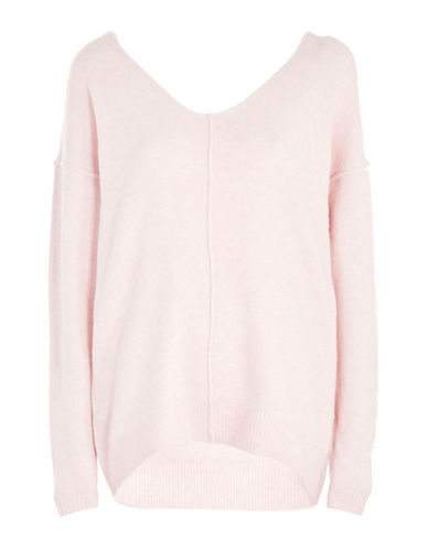 Topshop Longline Sweater-PINK-UK 14/US 10