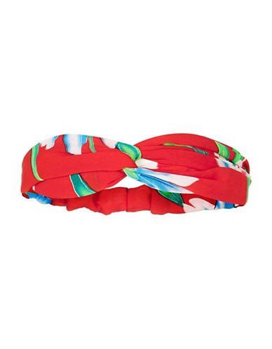 Topshop Floral-Printed Headband-RED-One Size