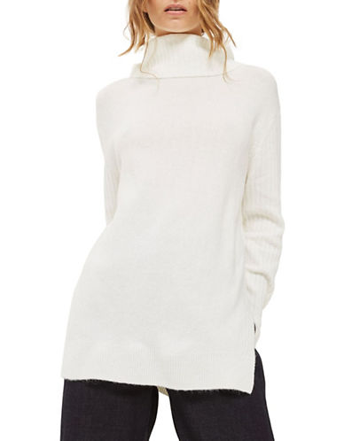 Topshop Oversized Knit Sweater-IVORY-UK 8/US 4