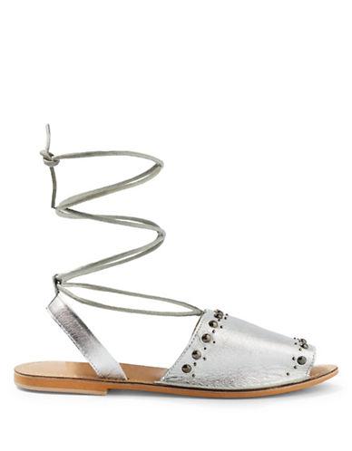 Topshop Hope Studded Sandals-SILVER-EU 38/US 7.5