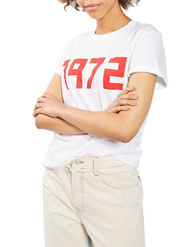Topshop 1972 Slogan Tee-WHITE-Large 89213444_WHITE_Large