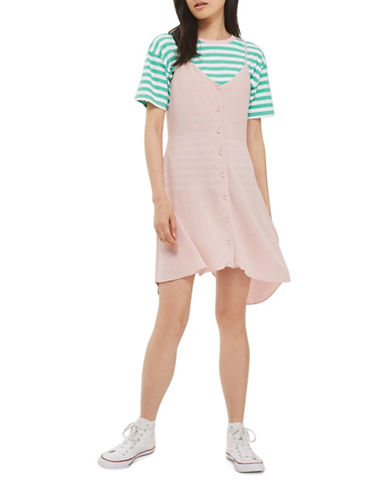 Topshop PETITE Molly Mini Dress-LIGHT PINK-UK 4/US 0