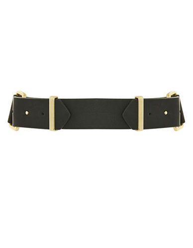Topshop Pin Studded Double Front Belt-GOLD-Medium
