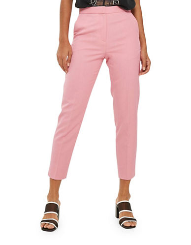 Topshop Fitted Suit Trousers-PINK-UK 10/US 6