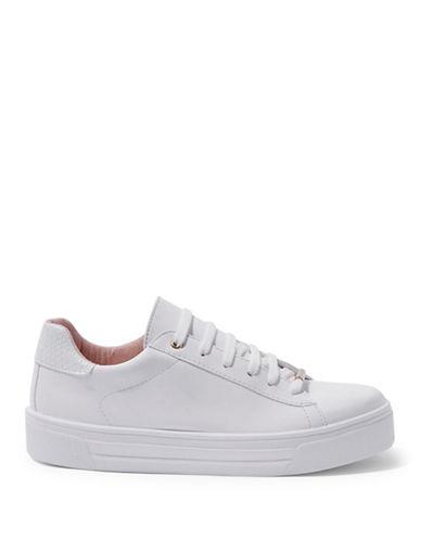 Topshop Commander Flatform Sneakers-WHITE-EU 41/US 10.5