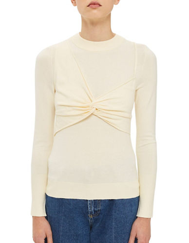 Topshop Bralet Overlay Knit by Boutique-CREAM-UK 6/US 2