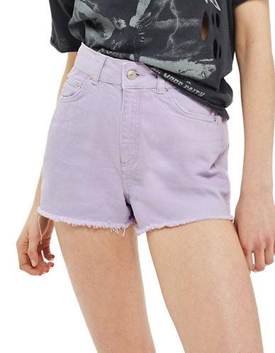 Topshop MOTO Mom Shorts-LILAC-UK 6/US 2