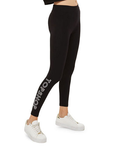 Topshop PETITE Ponte Leggings-BLACK-UK 10/US 6