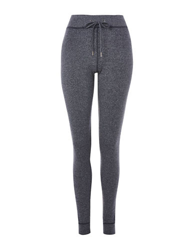 Topshop Jegger Pull-On Knit Pants-NAVY BLUE-UK 16/US 12