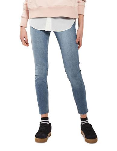 Topshop MOTO Raw Hem Jamie Jeans 30-Inch Leg-BLUE-24X30